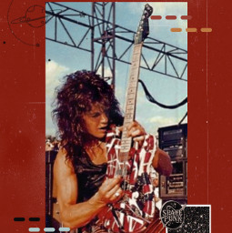 eddievanhalen vanhalen rocknroll rockmusic 70s 80s freetoedit