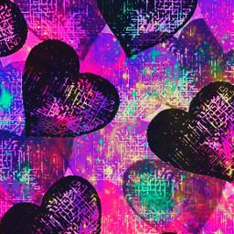 freetoedit glitter sparkle galaxy hearts love grunge punk pattern pink neon aesthetic art colorful overlay background