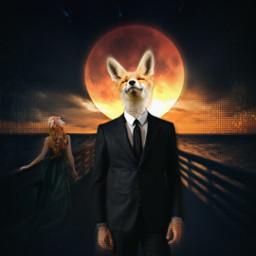 freetoedit madewithpicsart fox bloodmoon armani