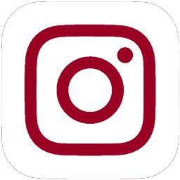 darkred instagram logo icon