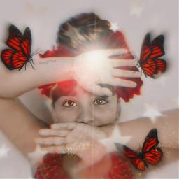 photomanipulation stickers oilpaintingeffect magicbrushes stars glow butterflies madewithpicsart shinebright freetoedit