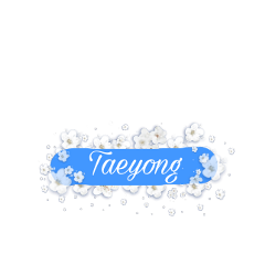 taeyong nct ncttaeyong name text flowers blue nct127 nctedit freetoedit