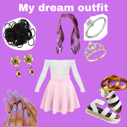 cute nails shoes dream outfit purple rings hair earings art nature night beautiful pretty wouldwear