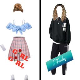girlygirl tomboy freetoedit