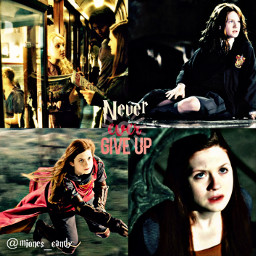 ginnyweasley bonniewright evannalynch harrypotter lcvelyicons ginny weasley never give up ever hermionegranger quidditch ronweasley shapeedit cute freetoedit remixit hinny