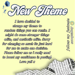 newtheme announcement freetoedit