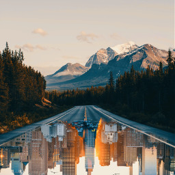 freetoedit upsidedown dtsdk picsart city highway interesting art surreal surrealism underworld cityunderground ctiyscape paralleluniverse parallel madewithpicsart mountains forest birds coolart photomanipulation fxtools picsarttutorial2020 editoftheday travel