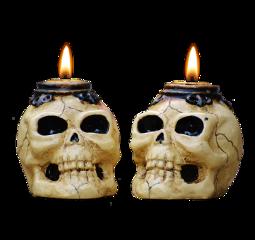 sculls scullcandles halloweendecor freetoedit