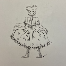 dtiys inktober inktober2020 dress fancy inkdrawing