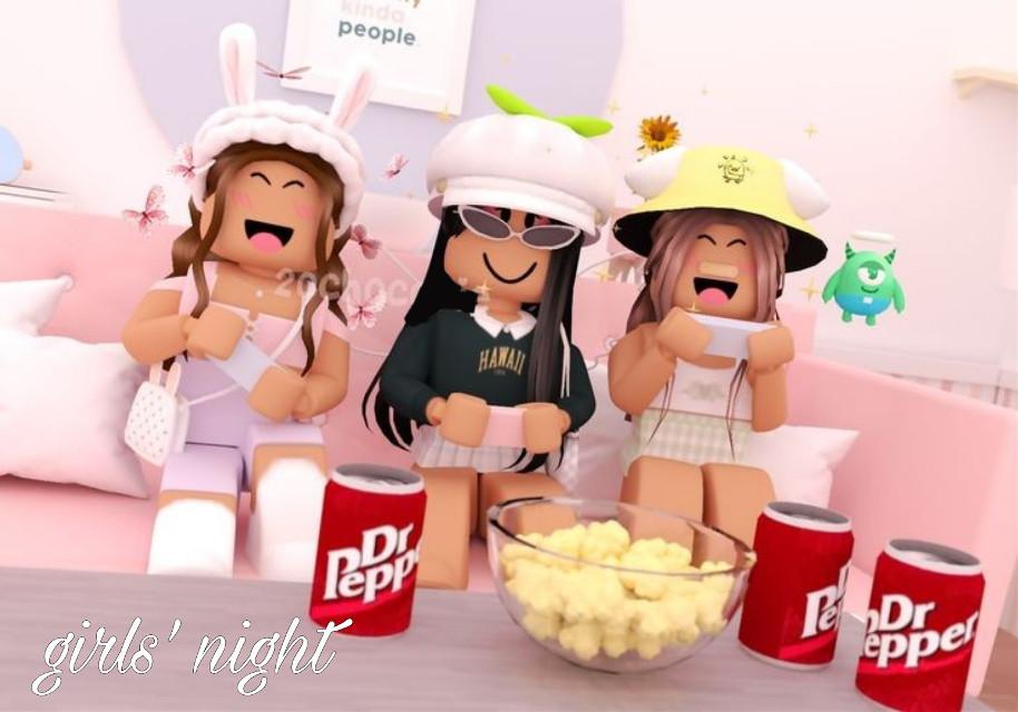 girls' night #roblox #pinterest #adoptme #picsart #robloxgirl #gfx #girls #girlpower #girls'generation #night
