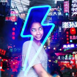 glowingeyes glow cyberpunk cybercity neonlights neonsign