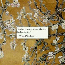 vangough arthoe vincentvangogh almondblossom quote