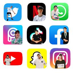 apps twitter netflix messages picsart tiktok facebook youtube snapchat instagram maxmills maxi mills millsies millsie maxandharvey freetoedit maxedit