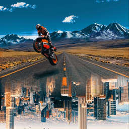 unsplash freetoedit city highway bike birds riding dtsdk picsart motorcycle