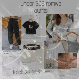 romwe outfits aestheticclothes cheap sweaters skirts collage backtoschool whiteaesthetic outfitinspo freetoedit