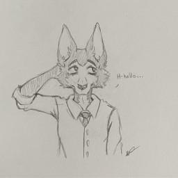 beastars legoshi shyboi sketch pencilsketch