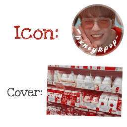 freetoedit soobin txt moa red cute icon cover request kpop