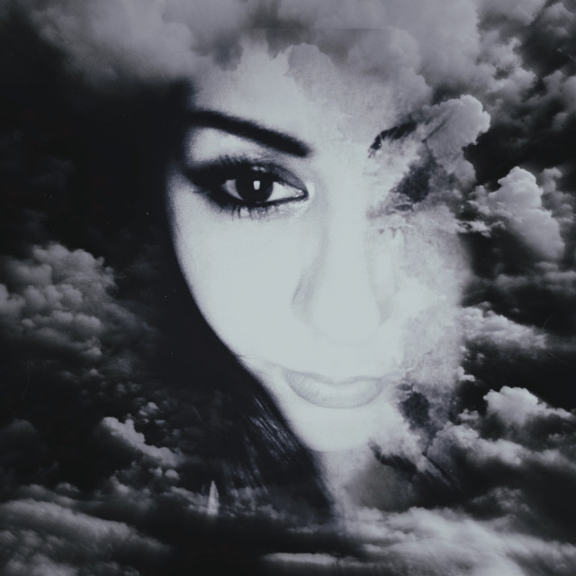 🖤  #myphotography #girl #eyes #clouds #myedit #freetoedit