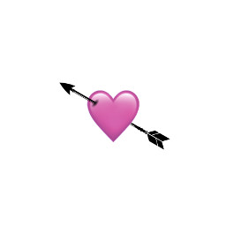 heart arrow iphone emoji iphoneemoji iphonestickers pink black pinkheart blackheart heartcrown halloween pinkhalloween blackhalloween cute clouds picsart freetoedit