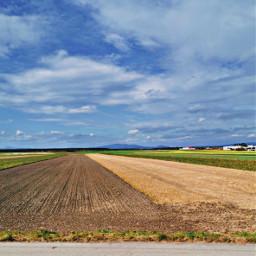 landscape fields bluesky nature freetoedit