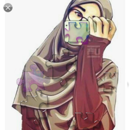muslimgirl hijabii puzzle freetoedit puzzlepieces