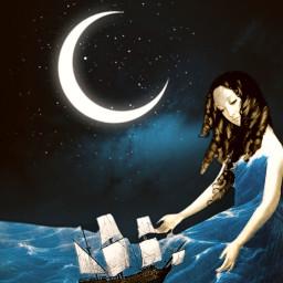 moonlight traveler ship sea fauspre surreal madewithpicsart madebyme heypicsart makeawesome visual_creatorz freetoedit