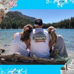 lake mammoth pretty sights seeing prettyskies sun stare mountains trees newspaper modern