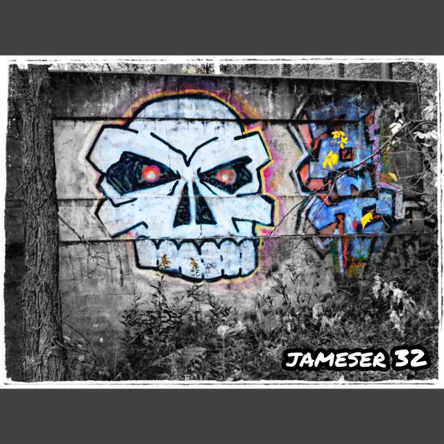 #photography #Bridge #street,-art #art #skull #colorful #graffiti