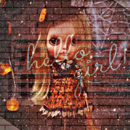 halloween hellogirl text quote doll toy witch lights doubleexposure overlaystickers hdreffect freetoedit