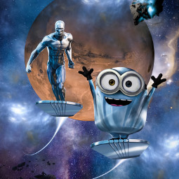 marvel universal silversurfer norrinradd minions fanart heroes superheroes cute space galaxy cosmic alienized wallpaper uhd redrawn editedwithpicsart freetoedit
