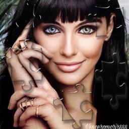 woman brunette beautiful smile srcpuzzlepieces