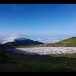 freetoedit japan hills grass nature meltingglacier mountains clouds summit gifumountains