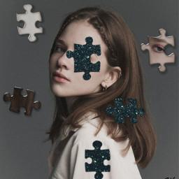 puzzle piece girl challenge remix freetoedit srcpuzzlepieces puzzlepieces