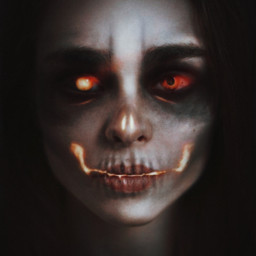 photography fantasy fx glow woman dark bloody creepy horror skull skeleton dead girl glowingeyes halloween2020 halloween myedit donotremix donotsteal undead effects makeup gothic witch drawingtool