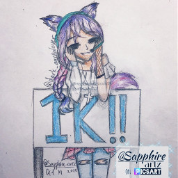 dark1kcontest drawing girldrawing girl girloc oc ocdrawing gachacloboc contestentry sketch drawingsketch cute 1k celebration traditionaldrawing art people