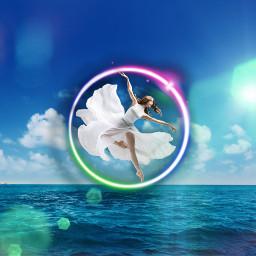 ballerina sea lightelegance dancer heypicsart madewithpicsart freetoedit