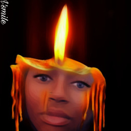 @asweetsmile1 candle surreal surreality blendedimages blend portrait africanart cute