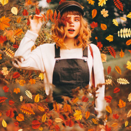 autumn autumnleaves leaves girl girls freetoedit