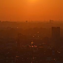 photography sunset orange landscape freetoedit