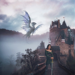 heypicsart magical castle fantasy dragon myedit madewithpicsart picsarteffects fittool fxeffects stickeroverlay freetoedit