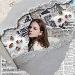 newspapercollage girl bestoneiveeverdone rcrippedpaperaesthetic rippedpaperaesthetic freetoedit
