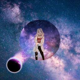 moi galaxi planete neon fille abonne freetoedit