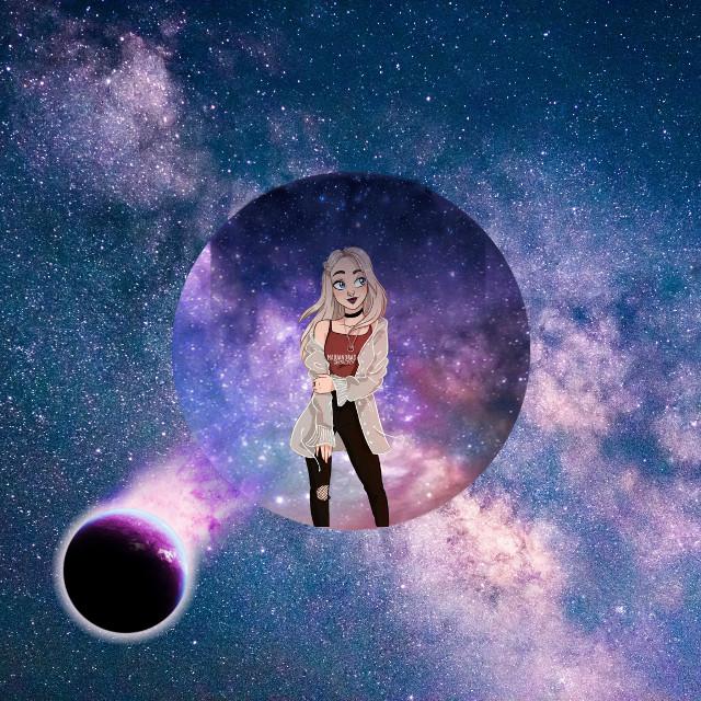 #moi#galaxi#planete#neon#fille#abonne toi
