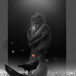 freetoedit helloween🎃 scary darkside mystery blackandwhite fantasyart heypicsart picsarteffects photoediting editbyme monochrome raven helloween