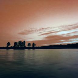river sky trees colors sunset evening myphoto myedit myart madewithpicsart joannart heypicsart freetoedit