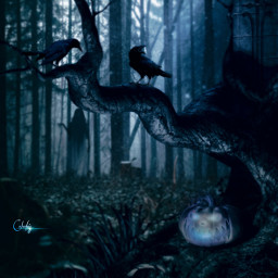 manipulation madewithpicsart halloweenscream halloween2020 forest creepy colochis89 freetoedit