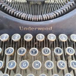 old typewriter letters freetoedit