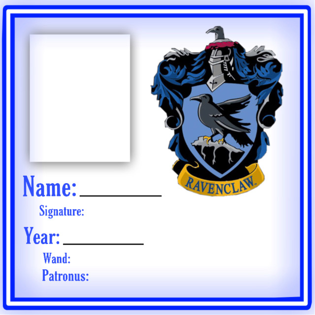 Where is all my Ravenclaws at? Print out your own #ravenclaw ID
