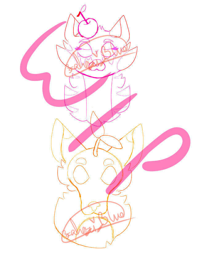 wip to adopt Cam the Citrus Capri-Sun Dog created by @londonlps he might become comfort character bc plant dog 👉👈 the other jerk is Sherri the Cherry Kool-Aid Cat i made when i was younger. she conplains a lot sorry im not active, im just really busy now with life #wip
