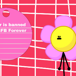 bfb flower bfbflower note pink red white yellow redpink pinkred object objects objectshow thumbnail thumbnailyt thumbnailformyvideo thumbnailforyoutube youtubethumbnail freetoedit